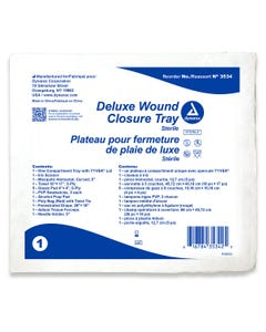 Dynarex 3534 Deluxe Wound Closure Trays, Case of 20