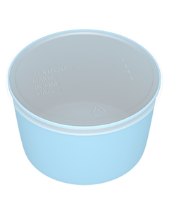 Dynarex 4222 Denture Cup with Lid, Case of 250