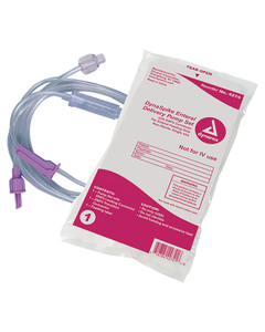 Dynarex 4274 DynaSpike Enteral Delivery Pump Set with ENfit Connector, Latex Free, Case of 30