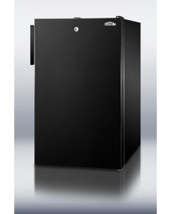 Summit Appliance FF521BL Counter Height Refrigerator with Auto Defrost and Lock, Black, 115V , FF521BL