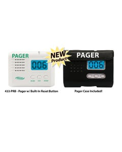 Smart Caregiver 433-PRB Wireless Caregiver Pager and Reset Button with LCD Display