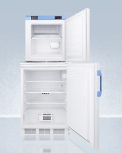 Summit Appliance Accucold FF7L-FS24LSTACKMED2 Vaccine Refrigerator and Compact Medical Freezer