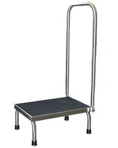 UMF Medical SS8378 Single Step Stainless Steel Foot Stool with Handrail