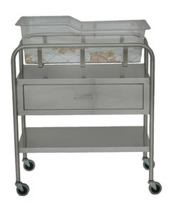 UMF Medical SS8525 Stainless Steel Bassinet with Basket and Mattress
