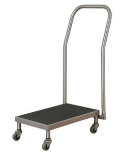 UMF Medical SS8381 Stool Transport Cart with Push Handle