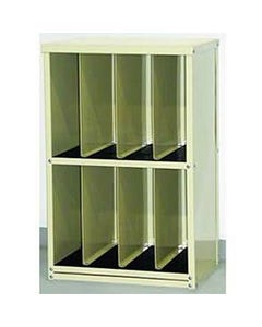 """Wolf X-Ray Corporation 80-037 Tall CR-Plate Rack with Eight 6"""" Wide Compartments"""